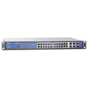 The Luminex GIGACORE 26i Network Switch Range feature ethernet ports suitable for industry standard Lighting, Audio and Video protocols with redundant backup, port aggregation, in an installation form factor.